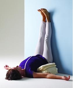 Iyengar Yoga - Viparita Karani