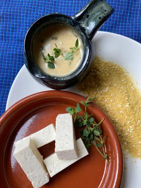 Feathered Pipe Kitchen: Tofu Steaks with Nutritional Yeast Gravy - Allison Radecki